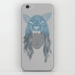 Little Wolf Girl iPhone Skin