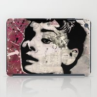audrey iPad Cases featuring Audrey by f_e_l_i_x_x
