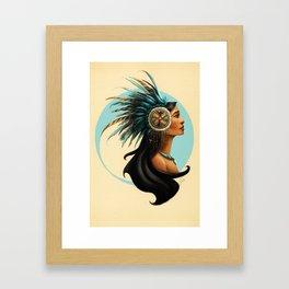 Tribal Princess Pocahontas Framed Art Print
