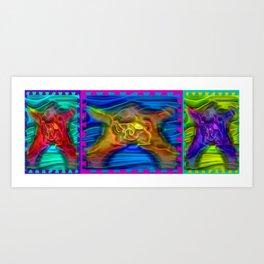 Threesome ... Art Print