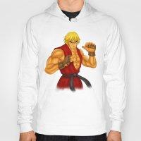 street fighter Hoodies featuring Ken Street Fighter by jasonarts