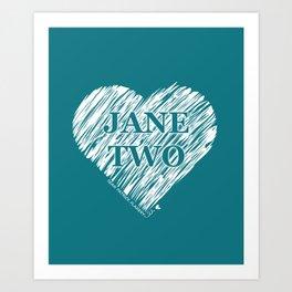 Heart Jane Two Art Print