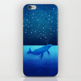 Whale Spouting Stars - Magical & Surreal iPhone Skin