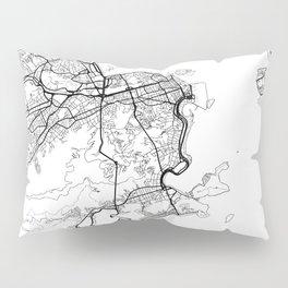 Rio de Janeiro Map White Pillow Sham