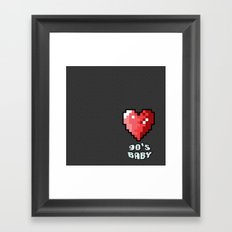 90's Baby Framed Art Print