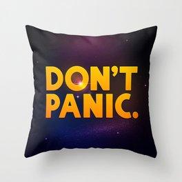 Don't Panic.  Throw Pillow
