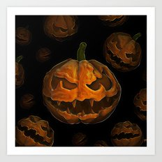 Pumpkin Hallowen Art Print