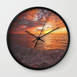 Inspirational Sunset by Aloha Kea Photography Wall Clock