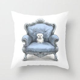 Know your place (in blue) Throw Pillow