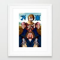 madonna Framed Art Prints featuring Madonna by DIVIDUS