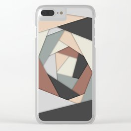 Earth Tones Layers Clear iPhone Case