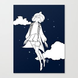 Weightless Witch - Night Canvas Print