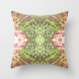 Faerie Fire Tracers Throw Pillow