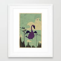 wings Framed Art Prints featuring I Got this! by Yetiland