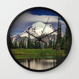 Mt Rainier in Washington Wall Clock