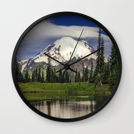 Mt Rainier in Washington Wall Clock