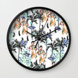 Tropical butterfly Wall Clock