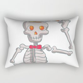 Funny skeleton with bowtie. Rectangular Pillow