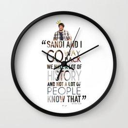 """""""Sandi and I."""" - Nathan Fillion Wall Clock"""