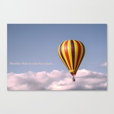 Candy floss clouds Canvas Print