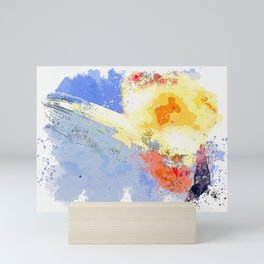 the Hindenburg disaster from a commonly published image of the first few seconds when it suddenly er Mini Art Print