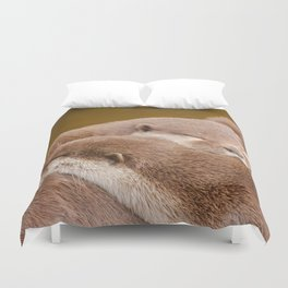 Cuddling Up Together - Otterly Cute Duvet Cover