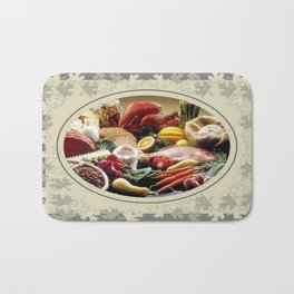 Thanksgiving Dinner and Autumn Decoration. Bath Mat