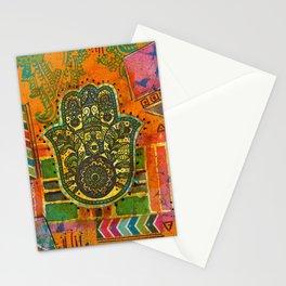 Boho & Batik Hamsa Stationery Cards