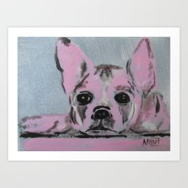 """ Take me home "" Frenchie Art Print"