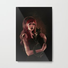 Here Kitty Metal Print