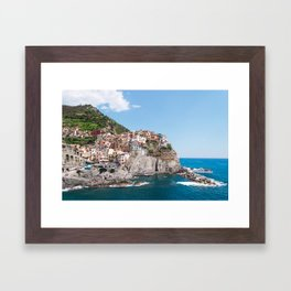 Cinque Terre | Italy City Travel Landscape Coastal Photography Framed Art Print