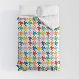 Houndstooth Rainbow  Comforters