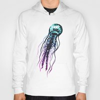 jellyfish Hoodies featuring Jellyfish by Cedric S Touati