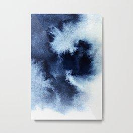Indigo Nebula Metal Print