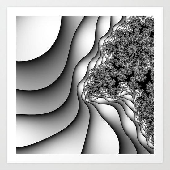 Layers of Snow Art Print