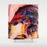 turtle Shower Curtains featuring Turtle by Art By Carob
