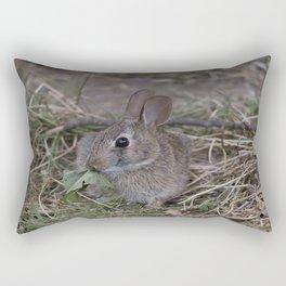 Tiny Garden Bunny Rectangular Pillow