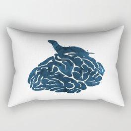 Ferret on a brain Rectangular Pillow