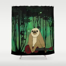 Flock of Gerrys Zososlow Sloth in the Forest Shower Curtain