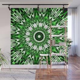 Green White Black Explosion Wall Mural