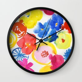 simply flowers Wall Clock