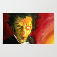 tom waits Area & Throw Rugs featuring Mr. Waits by The Being art