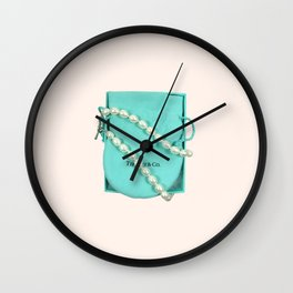 Pearls are a Girl's Best Friend Wall Clock