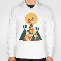 sunset Hoodies featuring Sunset Tipi by Picomodi