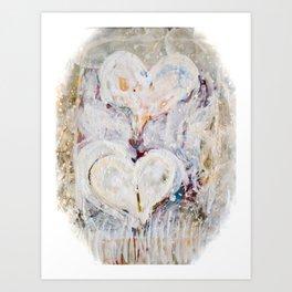 Winter Hearts Art Print
