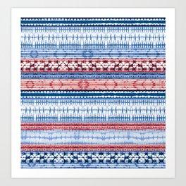 Indigo Shibori Tie&Dye Art Print