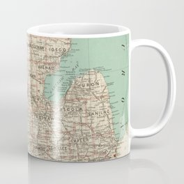 Vintage Map of Michigan (1888) Coffee Mug