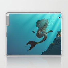 Mermaid Black Laptop & iPad Skin