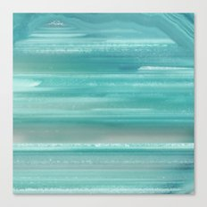 Turquoise Geode Canvas Print