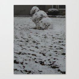 Tipsy Snowman Canvas Print